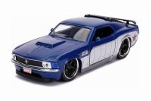 1970 Ford Mustang Boss, Winter Solider - Jada 31745 - 1/32 scale Diecast Model Toy Car