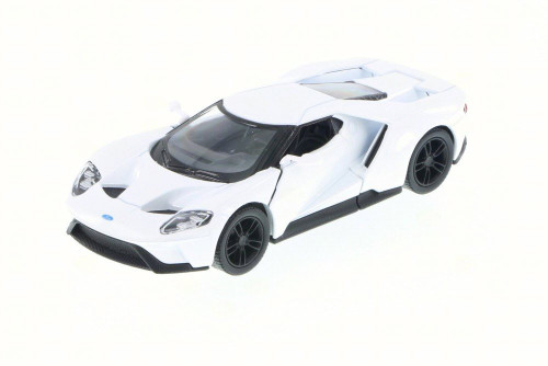 2017 Ford GT, White - Kinsmart 5391D - 1/38 Scale Diecast Model Toy Car (Brand New, but NOT IN BOX)