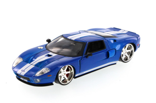 Fast & Furious Ford GT Hard Top, Blue - JADA 97307 - 1/24 Scale Diecast Model Toy Car (Brand New, but NOT IN BOX)