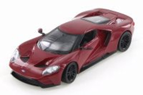 2017 Ford GT, Blood Red - Welly 24082/4D - 1/24 Scale Diecast Model Toy Car