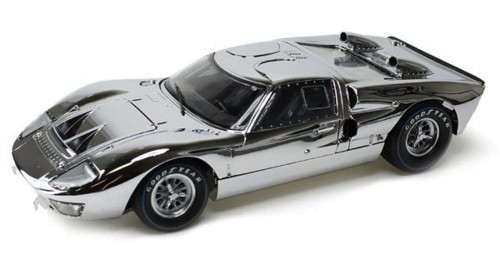 1966 Ford GT, Chrome - Shelby  SC413 - 1/18 Scale Diecast Model Toy Car