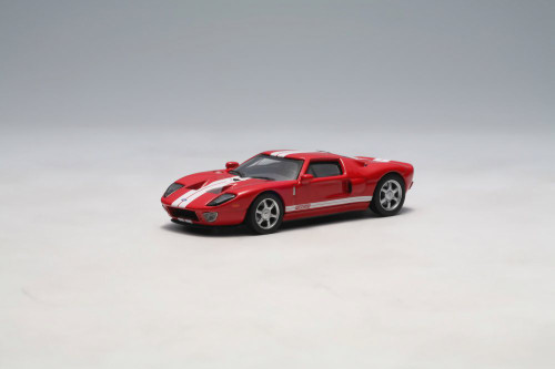 2004 Ford GT, Red w/ Stripes - Auto Art 20351 - 1/64 Scale Diecast Model Toy Car