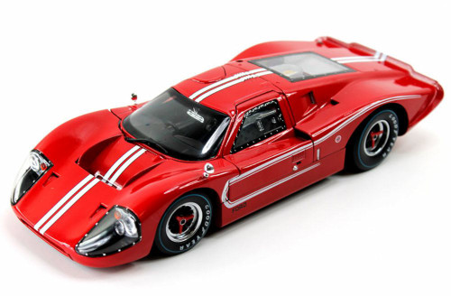 1967 Ford GT MK IV, Red/w White stripes - Shelby  SC420R - 1/18 Scale Diecast Model Toy Car