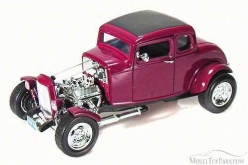 1932 Ford Hot Rod, Purple - Motor Max 73172 - 1/18 Scale Diecast Model Toy Car