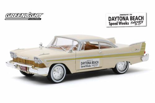 1957 Plymouth Fury, Daytona Beach Speed Weeks (February 3-17, 1957) - Greenlight 18257 - 1/24 scale Diecast Model Toy Car