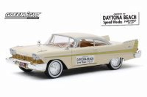 1957 Plymouth Fury, Daytona Beach Speed Weeks (February 3-17, 1957) - Greenlight 18257 - 1/24 scale Diecast Model Toy Car