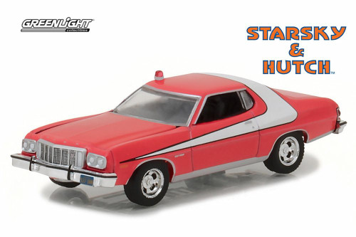 1976 Ford Gran Torino Starsky and Hutch, Red - Greenlight 44780A/48 - 1/64 Scale Diecast Model Toy Car