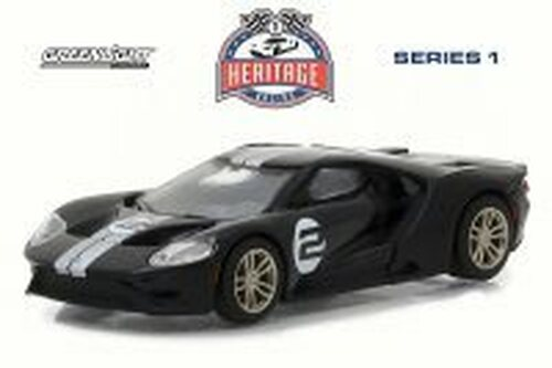 2017 Ford GT Tribute, Black - Greenlight 13200/48 - 1/64 Scale Diecast Model Toy Car