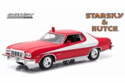 Starsky & Hutch 1976 Ford Gran Torino, Red - Greenlight 86442 - 1/43 Scale Diecast Model Toy Car