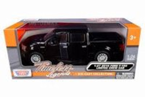 2019 Ford F-150 Limited Crew Cab, Black - Motor Max 79364BK - 1/27 scale Diecast Model Toy Car