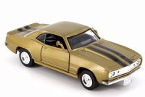 1967 Chevy Camaro Z-28, Aztec Bronze w/ Black Stripes - New Ray 50461 - 1/32 Scale Diecast Model Toy Car