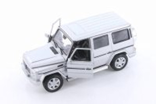 Mercedes-Benz G Class Wagon Hard Top, Silver - Welly 24012/4D - 1/24 scale Diecast Model Toy Car