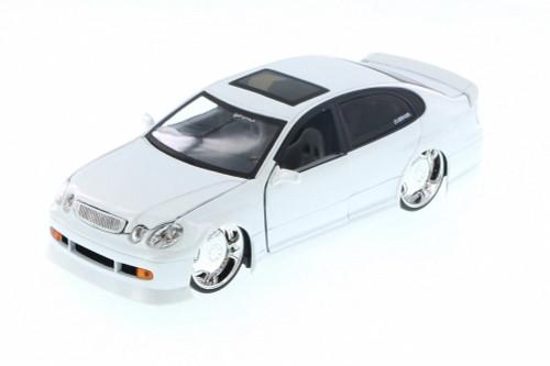 Lexus GS430, White - Jada 50759FF - 1/24 Scale Diecast Model Toy Car