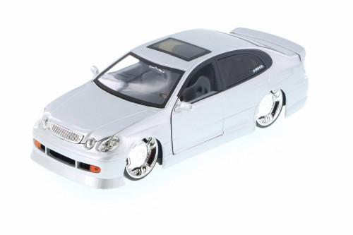 Lexus GS430, Silver - Jada 50759FF - 1/24 Scale Diecast Model Toy Car