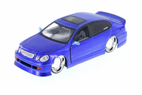 Lexus GS430, Blue - Jada 50759FF - 1/24 Scale Diecast Model Toy Car