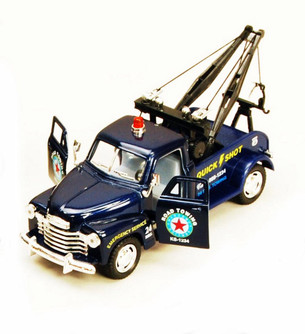 1953 Chevy Tow Truck, Blue - Kinsmart 5033D - 1/38 scale Diecast Model Toy Car (Brand New, but NOT IN BOX)