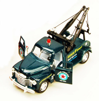 1953 Chevy Tow Truck, Green - Kinsmart 5033D - 1/38 scale Diecast Model Toy Car (Brand New, but NOT IN BOX)