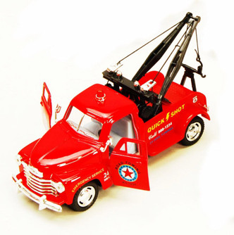 1953 Chevy Tow Truck, Red - Kinsmart 5033D - 1/38 scale Diecast Model Toy Car (Brand New, but NOT IN BOX)