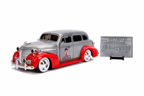 1939 Chevy Master Deluxe Hard Top (Betty Boop) with Diecast Mosaic Tile, 20th Anniversary - Jada 31091 - 1/24 scale Diecast Model Toy Car