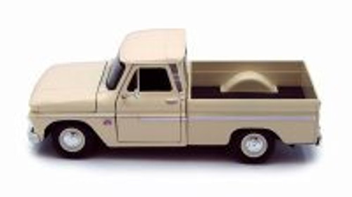 1966 Chevy C10 Pickup Truck, Cream - Motor Max 73355L - 1/24 Scale Diecast Model Toy Car
