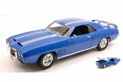 1969 Pontiac Firebird Hard Top, Blue - Lucky Road Signature 92368BU - 1/18 scale Diecast Model Toy Car