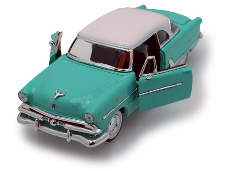 1953 Ford Victoria, Blue - Welly 22093 - 1/24 scale Diecast Model Toy Car