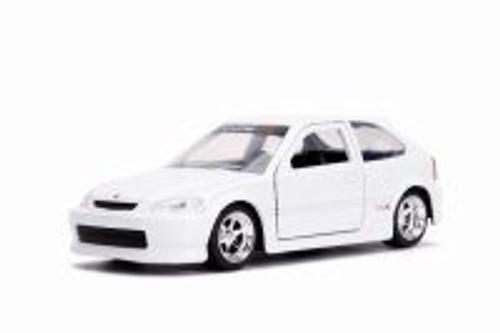 1997 Honda Civic Type R, Glossy White - Jada 30973DP1 - 1/32 scale Diecast Model Toy Car