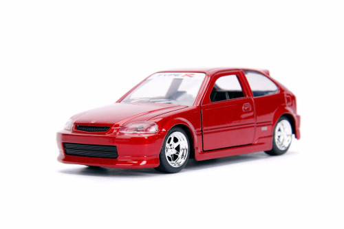 1997 Honda Civic Type R, Glossy Red - Jada 30973DP1 - 1/32 scale Diecast Model Toy Car