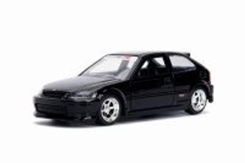 1997 Honda Civic Type R, Glossy Black - Jada 30973DP1 - 1/32 scale Diecast Model Toy Car