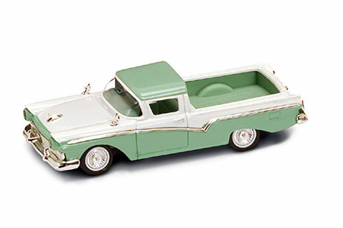 1957 Ford Pickup Truck, Green and White - Road Signature 94215 - 1/43 Scale Diecast Model Toy Car