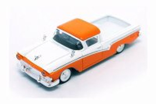 1957 Ford Ranchero, Orange w/ White - Lucky Road Signature 94215OR - 1/43 Scale Diecast Model Toy Car