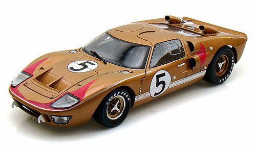 1966 Ford GT-40 MK II #5, Gold - Shelby  SC403 - 1/18 Scale Diecast Model Toy Car