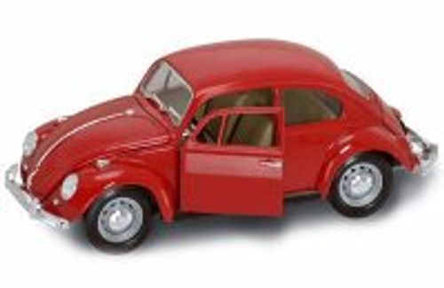 1967 Volkswagen Beetle, Red - Yatming 92078 - 1/18 Scale Diecast Model Toy Car