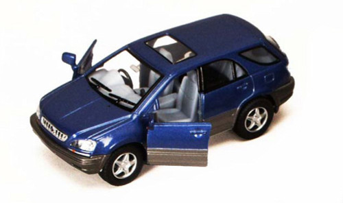 Lexus RX 300 SUV, Blue - Kinsmart 5040D - 1/36 scale Diecast Model Toy Car (Brand New, but NOT IN BOX)