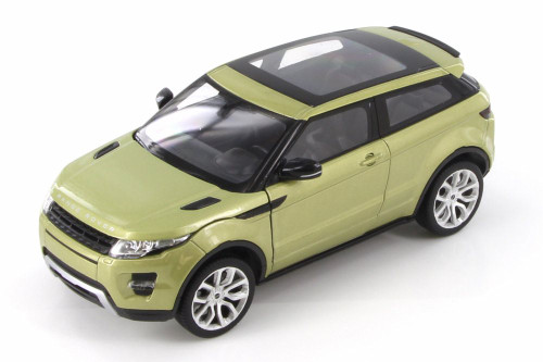 Land Rover Range Rover Evoque SUV w/ Sunroof, Spring Green Metallic - Welly 24021/4D - 1/24 Scale Diecast Model Toy Car