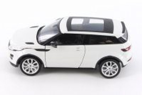 Land Rover Range Rover Evoque SUV w/ Sunroof, White - Welly 24021/4D - 1/24 Scale Diecast Model Toy Car