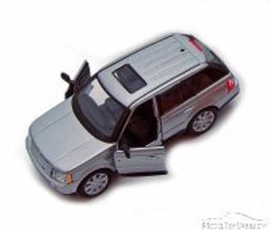 Range Rover Sport SUV, Silver - Kinsmart 5312D - 1/38 Scale Diecast Model Replica (Brand New, but NOT IN BOX)