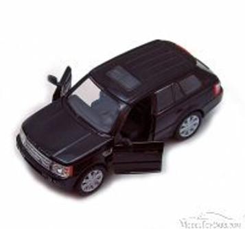Range Rover Sport SUV, Black - Kinsmart 5312D - 1/38 Scale Diecast Model Replica (Brand New, but NOT IN BOX)