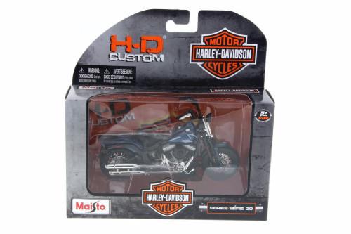 2008 Harley Davidson FLSTSB Cross Bones, Dark Blue - Maisto 31360-30 - 1/18 Scale Diecast Model Toy Car
