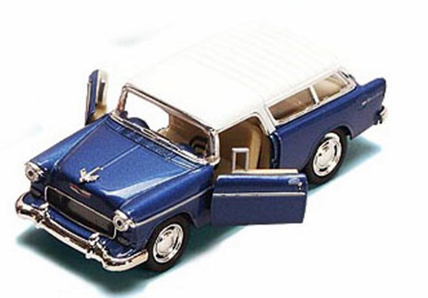 1955 Chevy Nomad, Blue - Kinsmart 5331/2D - 1/32 scale Diecast Model Toy Car (Brand New, but NOT IN BOX)