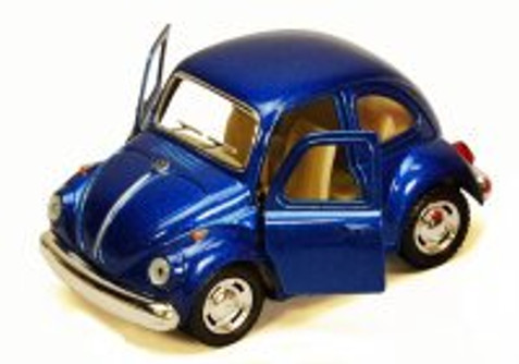 1967 Volkswagen Classic Beetle, Blue - Kinsmart 4026D - 3.75Diecast Model Toy Car (Brand New, but NOT IN BOX)