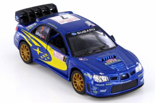 2007 Subaru Impreza WRC, Blue w/ Decals - Kinsmart 5072/5D - 1/36 Scale Diecast Model Toy Car