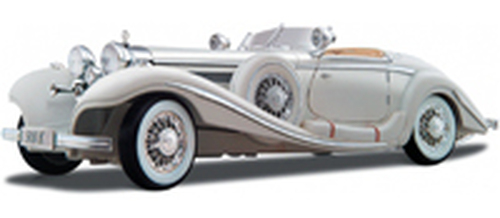 1936 Mercedes Benz 500K Typ Roadster Convertible, White - Maisto Premiere 36055 - 1/18 Scale Diecast Model Toy Car
