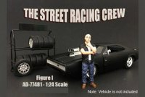 Street Racing Crew Figure #1 - American Diorama 77481 - 1/24 Scale Diecast Model Toy Car