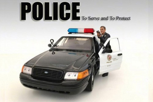 Police Officer IV Figurine, American Diorama 24014 - 1/18 Scale Hobby Accessory