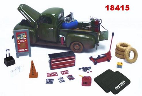 Mobile Mechanic Series - Phoenix Garage Diorama Accessory Set 18415 - 1/24 scale diecast car diorama accessory