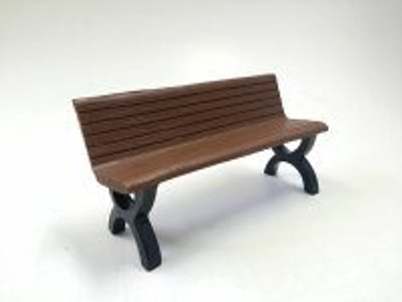 Park Bench, Brown - American Diorama Accesories 23982 - 1/18 scale