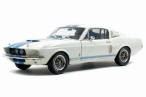 1967 Shelby Mustang GT500 Hardtop, White - Solido S1802901 - 1/18 scale Diecast Model Toy Car