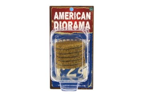 Hay Bale, Dark Yellow - American Diorama 23984 - 1/24 Scale Diorama Accessory