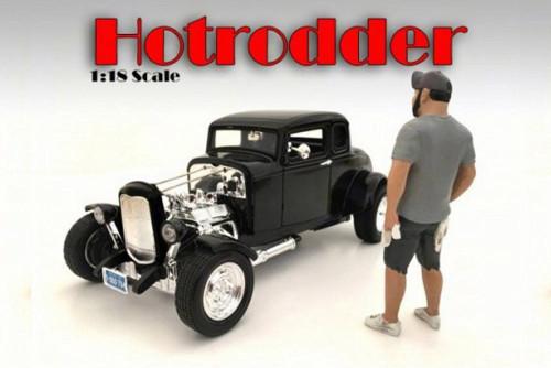 Hotrodders Robert Figurine, American Diorama 24009 - 1/18 Scale Hobby Accessory
